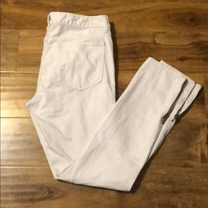 Tory Burch jeans white cropped slim 29